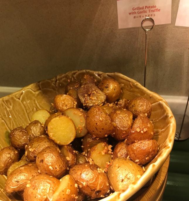 Garlic Truffle Baby Potatoes