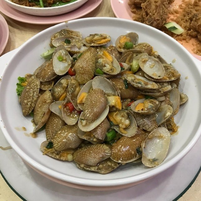 Fried Garlic Chili Clams (Lala)