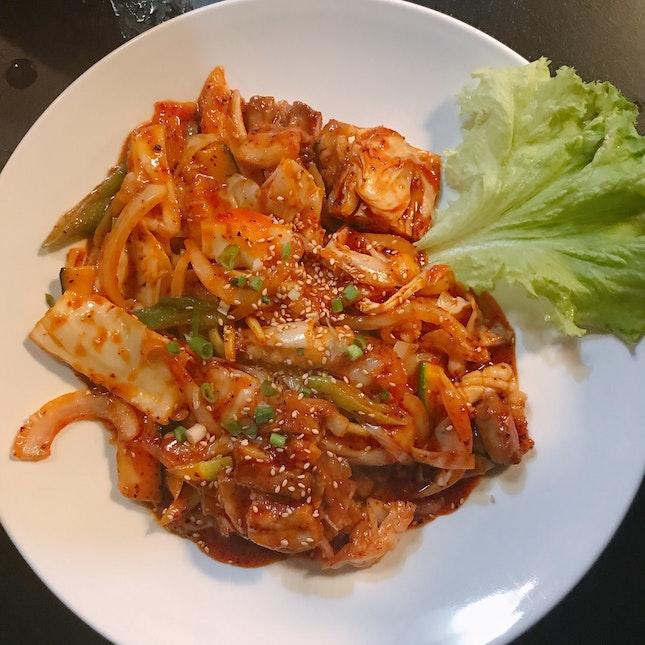 Stir-fried Chicken & Squid