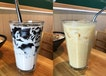Grass Jelly Milk Tea • Green Tea Yakult
