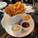 Curly Fries w/ Dip Trio