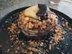 Earl Grey Pancakes With Poached Pear And Nut Crumbles