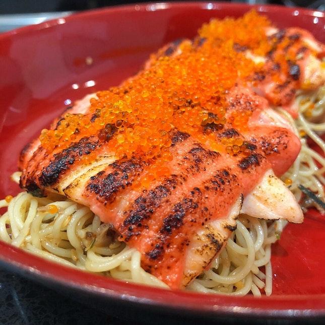 Mentaiko Salmon Spaghetti