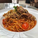 Soft Shell Chilli Crab Linguine