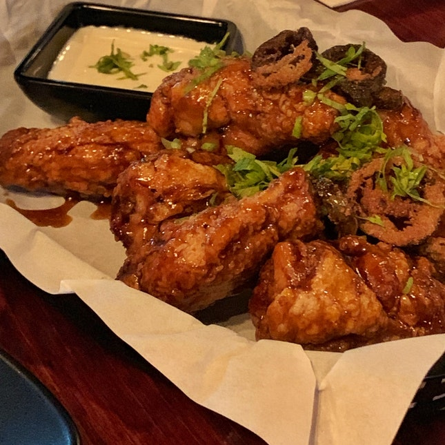 Honey Tequila Wings ($19)