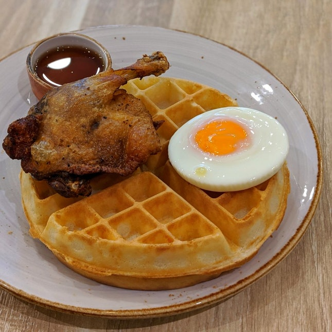 Duck Confit and Waffle