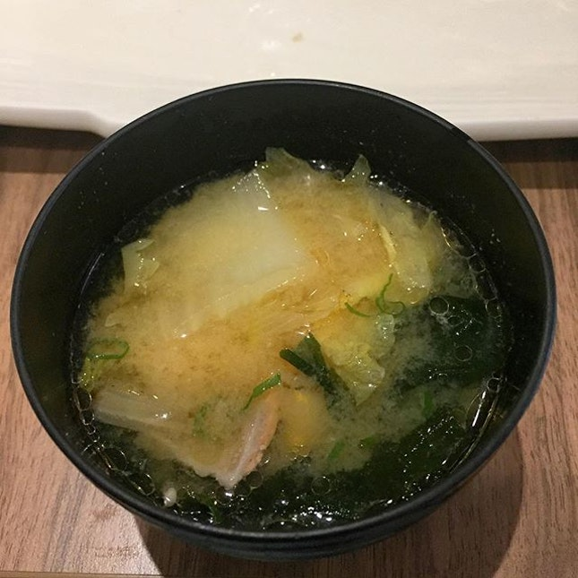 Miso shiru to finish our meal, loved this as well.