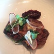 Umeboshi Iberico pork, pickled shiso, mustard seeds and black fig was my choice for mains.