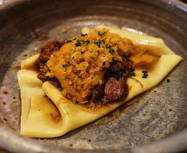 Wagyu ragu, beef fat crumbs and homemade pasta that would make an Italian mama sing!