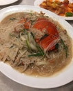 Signature crab mee hoon that's cooked in a yam broth.