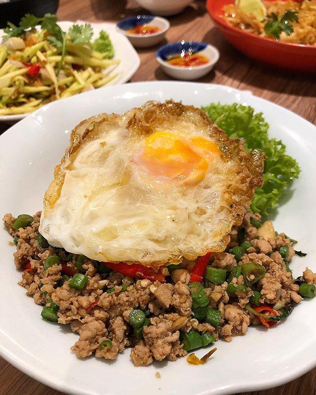 Krapao moo, a Thai classic of minced pork with Thai basil.