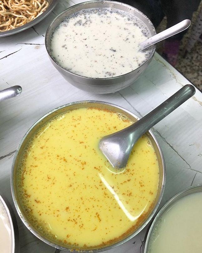 You can also order turmeric soya milk and black sesame soya milk.