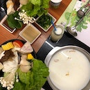 Everyone told us to try the milk hot pot at the Flying Cow Ranch.