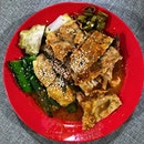 Curry Chee Cheong Fun with various types of yong tau foo.