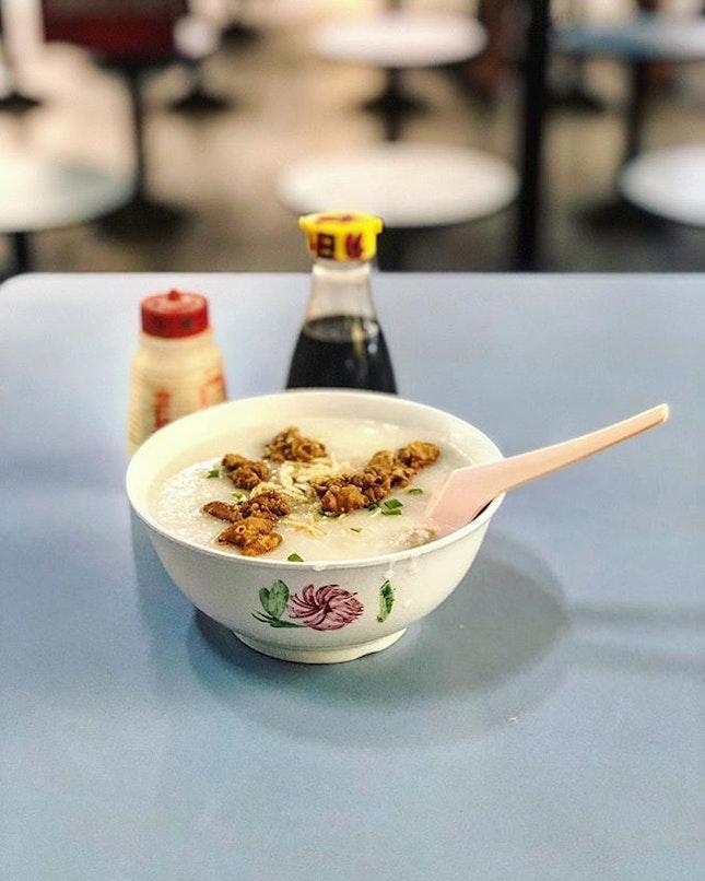 Chu Chap Chuk or Pork innards congee.