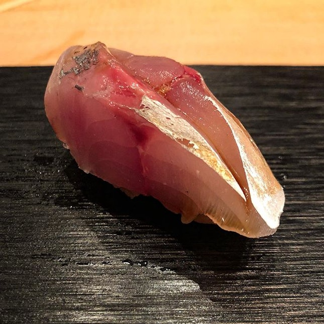 Aji from Kagoshima, aged for a week.