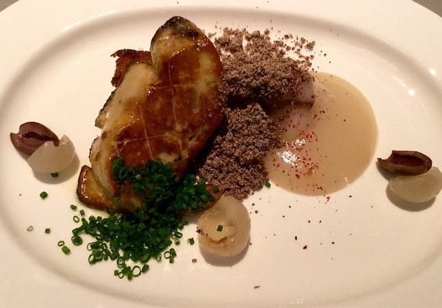 Sautéed Foie Gras, Lychee, Black Olive, Rose  $19