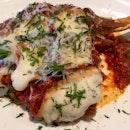 Signature Veal Chop Parmigiana $95