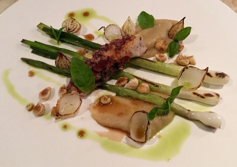 Braised Octopus, Grilled Onion Salad, Roasted Hazelnut, Basil  $19