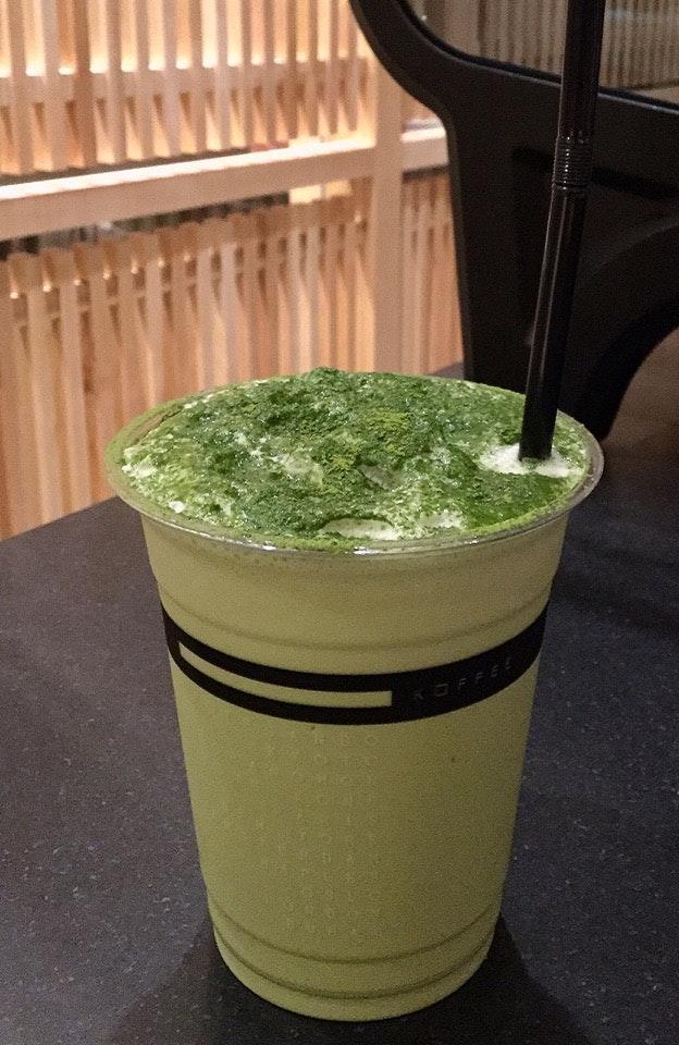 Iced Matcha Cappuccino  $7.50