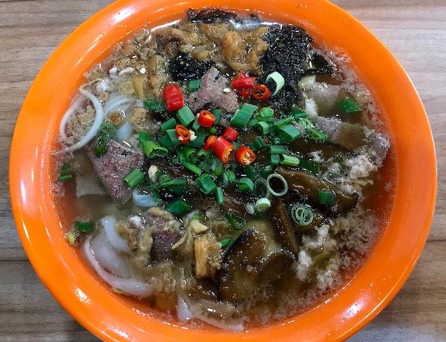 肉脞粿條湯  $5