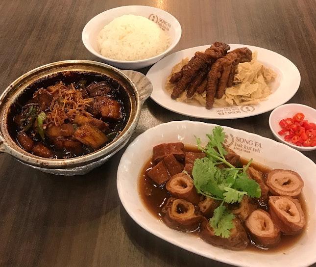 香辣扣肉 | 鹵大腸 | 燜鳳爪腐竹  $24.15