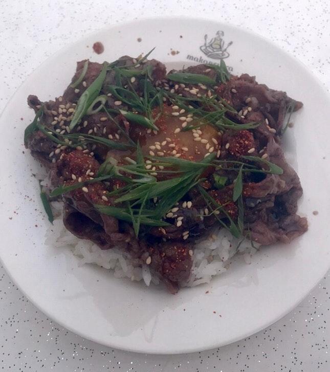 Beef Rice Bowl  $7