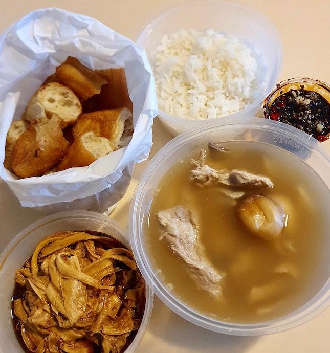 人氣肉骨茶 | 豆支 | 油條 | 白飯  $17.55
