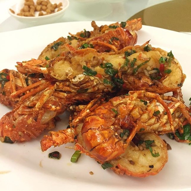 Baby Lobsters fried with Salt & Pepper.