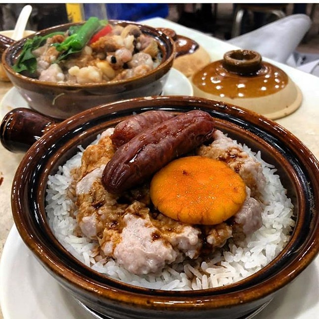 Hong Kong Claypot Rice  Unlike the claypot rice stores in Singapore which usually only sell one type of claypot rice, the ones in Hong long serve up a wide variety, with various ingredients you can choose from.