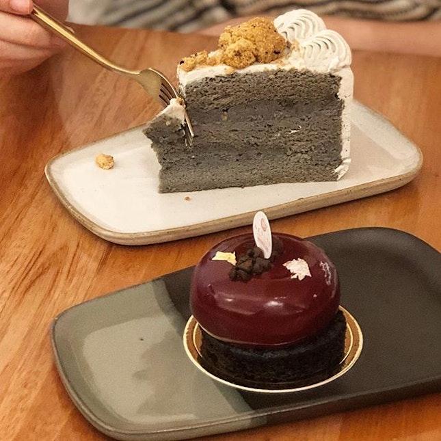 Sesame Goma cake ($9) & de Chocolat cake ($9)  Made use of burpple beyond here!