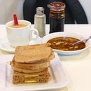 Kaya toast set A ($4.80)  A great breakfast to start the morning right!