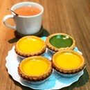 Egg tart ($2.20 each) and hot milk tea ($2.70)  Have always loved the egg tarts at tai cheong, as the crusts have that peanutty flavour, with creamy egg custard sitting in the middle.