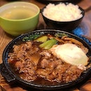 Beef Sukiyaki set  This dish looked deceptively simple, but I was so satisfied after the meal!