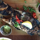 The char on this grilled sea bass ($19) was unforgettably intense.
