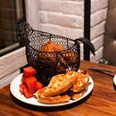 Chicken 'N' Watermelon 'N' Waffles ($40)