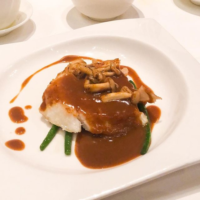 @ Crystal Jade Golden Palace • Pan Fried Cod Fish with Black Truffle Sauce