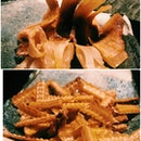 Deep Fried Sea Eel Bones And Grilled Stingray Fins
