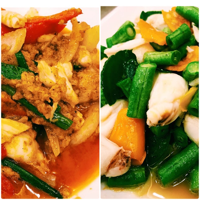Stir Fried Crab Meat Dishes