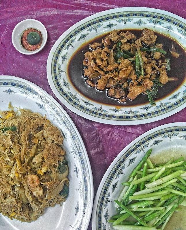 _ 三楼 _ Finally  back 三楼海鲜园 for the so call Chao Ta Bee Hoon & while I'd better ones, the wok hei in this is 👍👍👍!