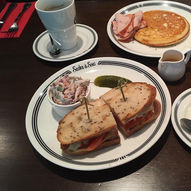 Vegetarian Sandwich + Amazing Buttermilk