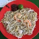 Fried hokkien prawn mee ($4)