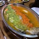 Thai-style Steamed Sea bass