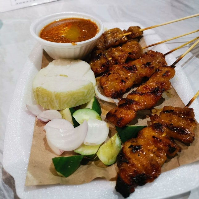 Amazing pork belly satay
