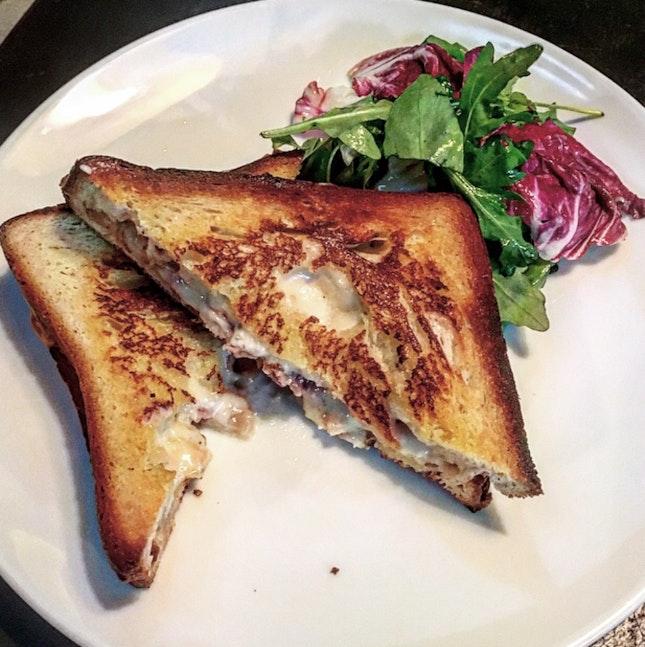 Truffled Prosciutto Melt, Ham Hock And Taleggio On Pilsner Loaf ($20)