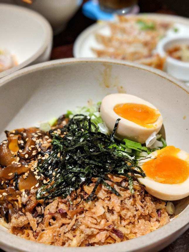 Miso Mushroom Egg Noodles