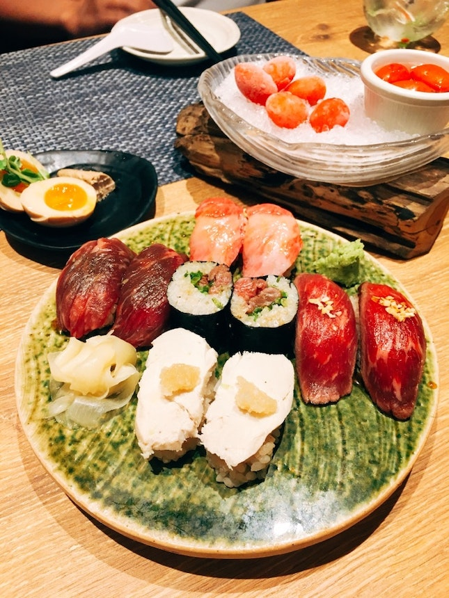 Singapore's First (and Only?) Meat Sushi Joint