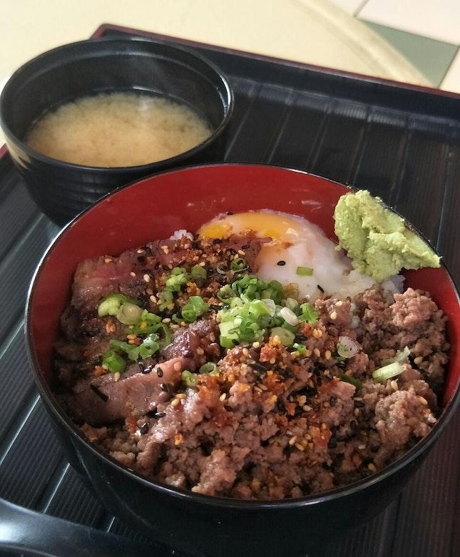 Wagyu Beef Rump Cap with Truffle Minced Beef ($17.50)