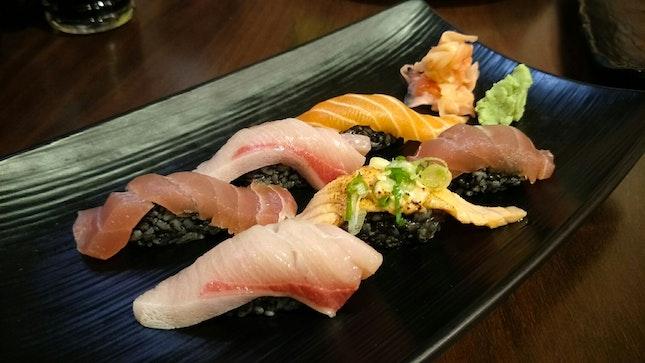 Ikasumi Assorted Sushi ($16.90)