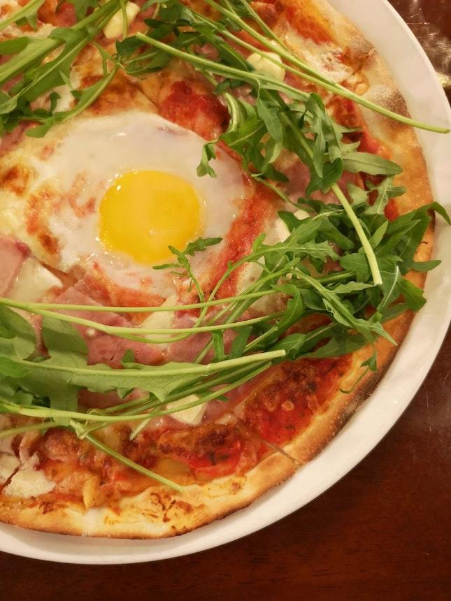 Pizza Bismark ($26)